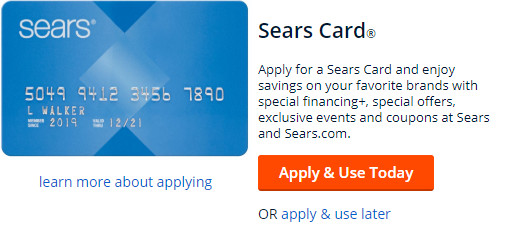 apply for sears card