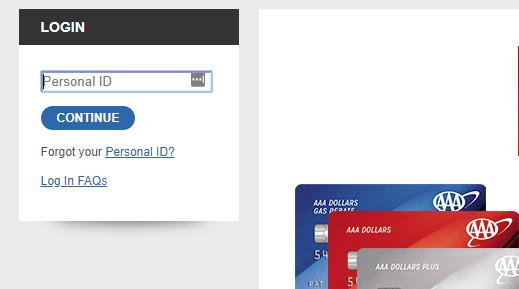 aaa credit card login