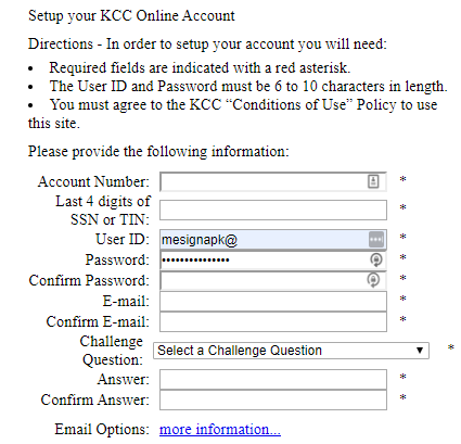 kcc online account