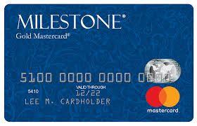 Milestone credit card